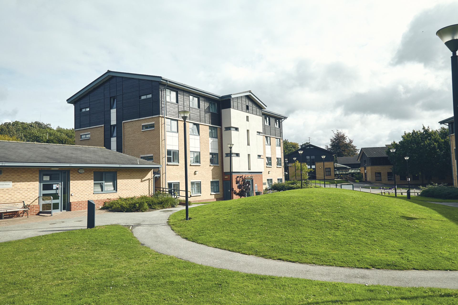 An external image of an accommodation block at the University of York.